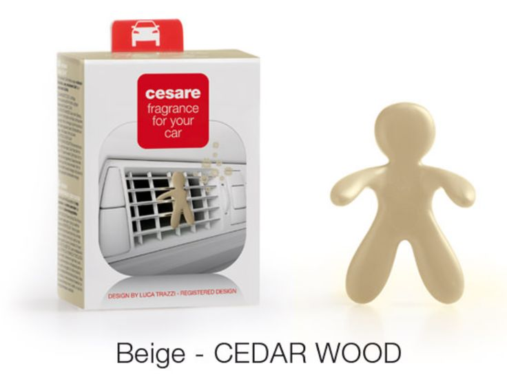 The ultra cute Cesare, available in many colours and fragrances, for your car. AVAILABLE IN BOX AND BLISTER VERSIONS