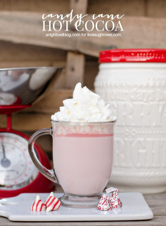 Warm up with a cup of this delicious Candy Cane Hot Cocoa!