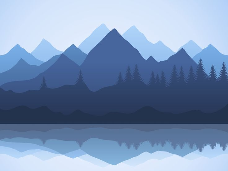 Mountain illustrations landscaping and wallpaper for Mountain landscape design