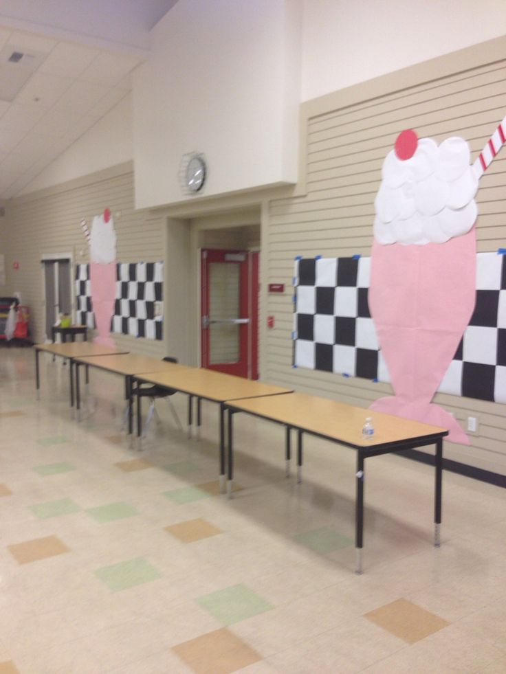 — 50's Sock Hop Decorations