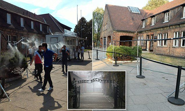 Jewish visitors to Auschwitz shocked after showers 'like gas chambers' are placed | Daily Mail Online