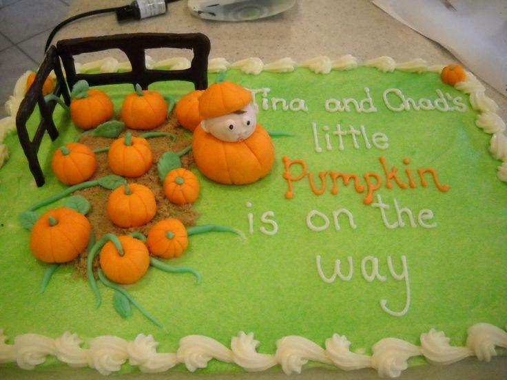 lil pumpkin baby shower cake | little pumpkin-- Pumpkin (or Pumpkin-head) is a term of endearment in my family.