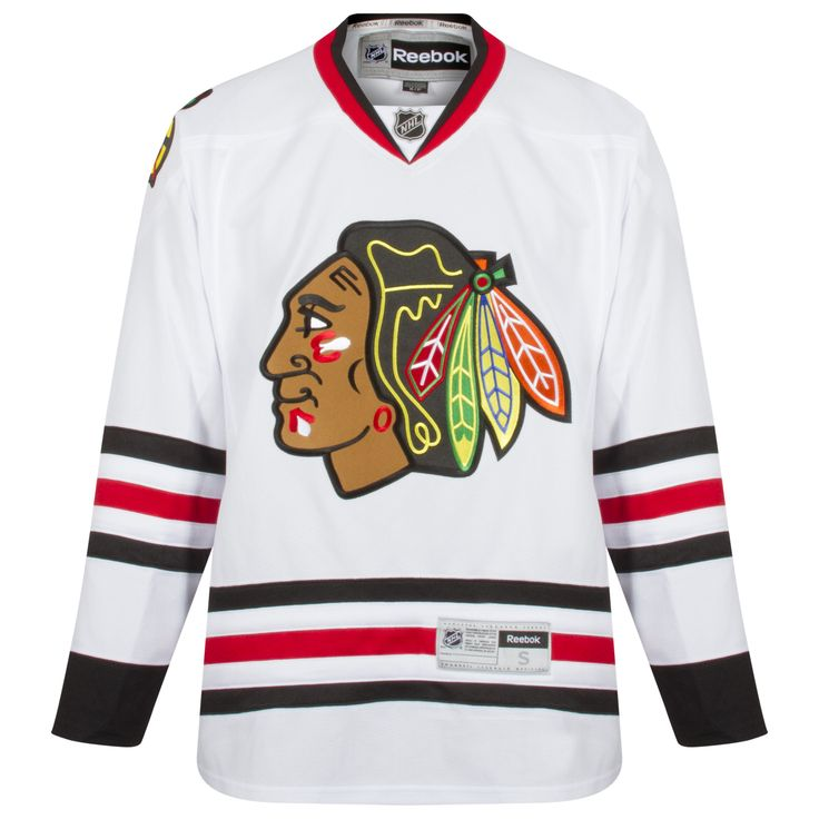 Chicago Blackhawks Adult Blank Premier Road Jersey by Reebok #Chicago #Blackhawks #ChicagoBlackhawks