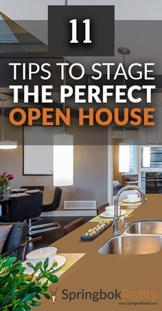 See Eleven Tips to Stage For Your Next Real Estate Open House: https://www.springbokrealty.com/blog/11-home-staging-tips-for-a-successful-open-house.html