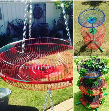 A great way to recycle the metal guards off no longer used fans