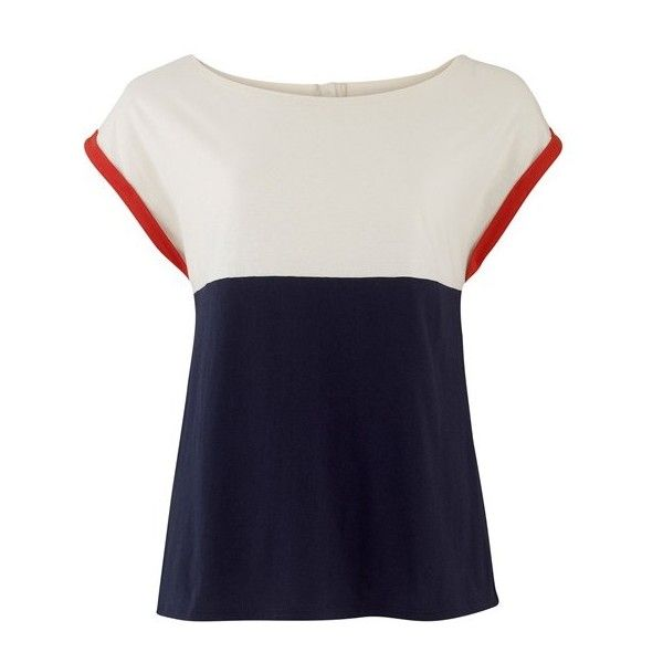 THIS PRODUCT WAS ADDED TO YOUR SHOPPING BAG. (725 ARS) ❤ liked on Polyvore featuring tops, t-shirts, shirts, blusas, blouses, cotton tee, blue t shirt, blue cotton shirt, long cotton shirts ve long length shirts