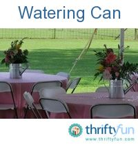 Watering Can Centerpieces