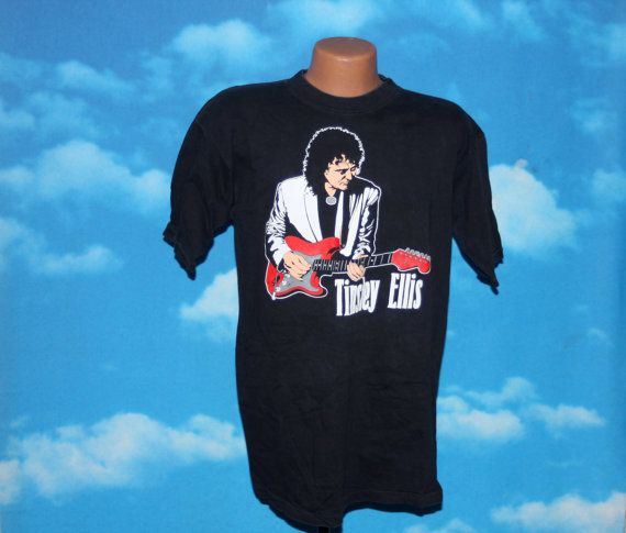 Tinsley Ellis Fanning the Flames Tour 1991 Black Tshirt Vintage 1991 by nodemo