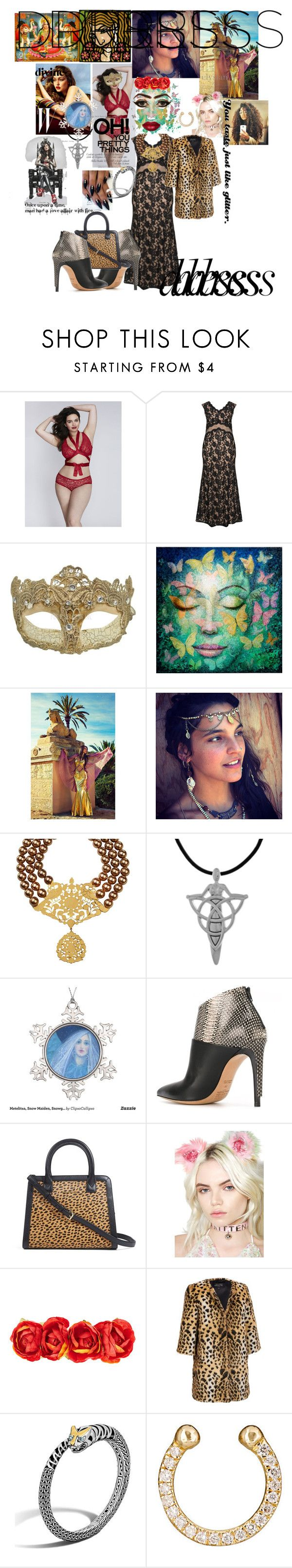 """""""Divine love affair ♡with goddess in two tone dress 👗♡"""" by maijah ❤ liked on Polyvore featuring Cacique, Gina Bacconi, Masquerade, Gipsy, Carolina Glamour Collection, Maison Margiela, Vera Bradley, Kat Von D, KritterKlips and John Hardy"""