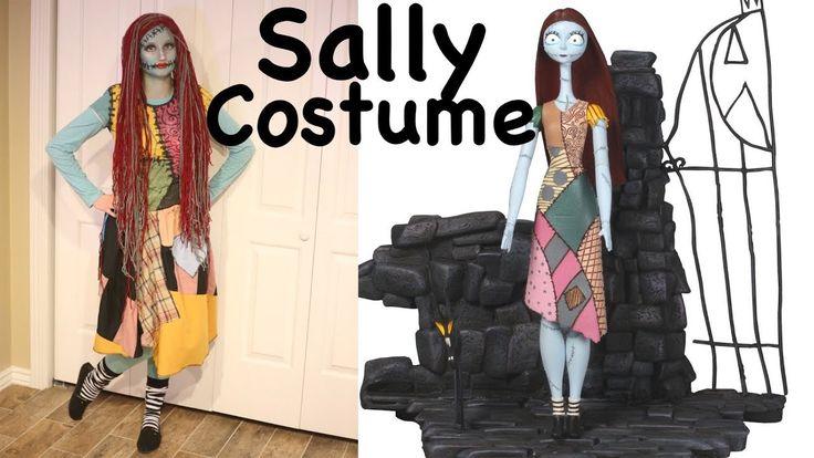 How To Make Sally Costume And Makeup! Nightmare Before Christmas Cosplay!
