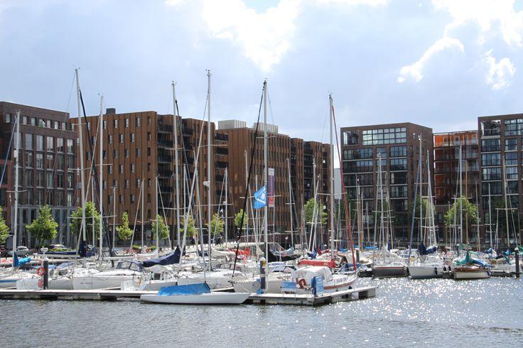 Jachthaven ijburg in Amsterdam, Noord-Holland