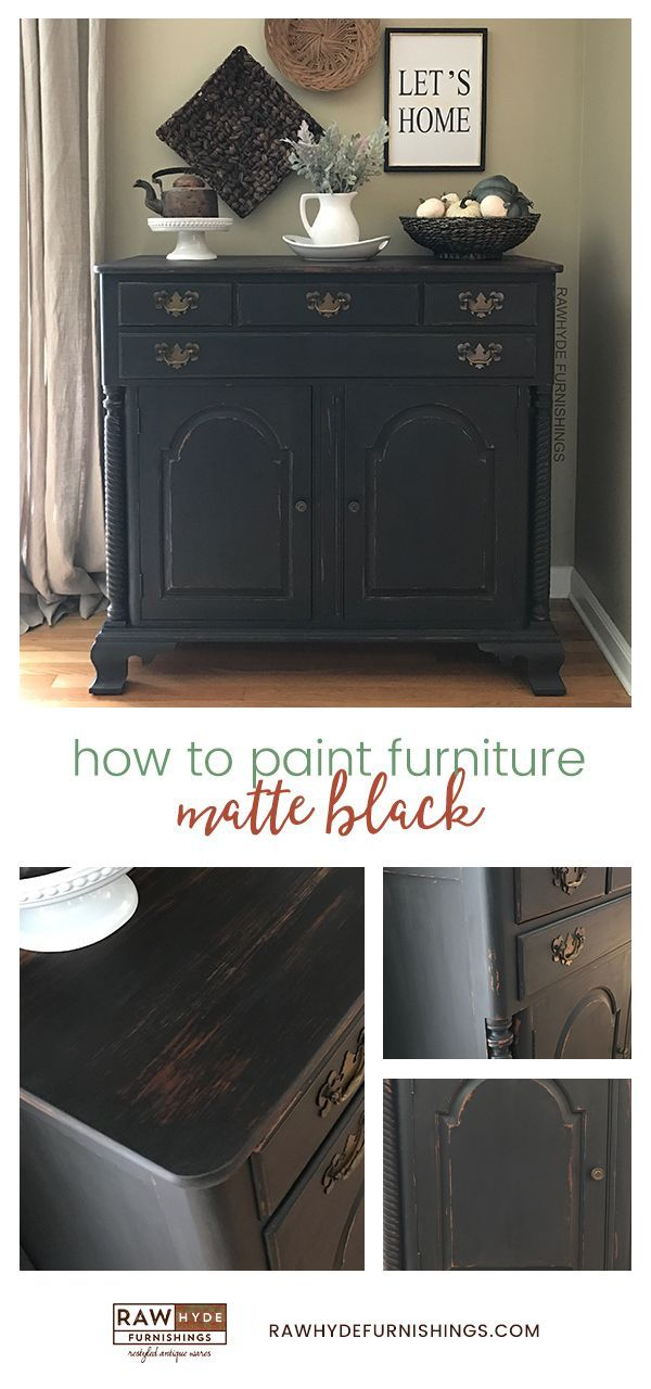 Painted Furniture | Matte Black | Home Decor | Heirloom Traditions | How To Paint Furniture | RAWHyde Furnishings (scheduled via http://www.tailwindapp.com?utm_source=pinterest&utm_medium=twpin)