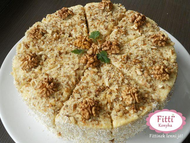 Diós-vaníliás almatorta - Mennyei finom, mutatós, otthon is elkészíthető és még diétás is! http://www.glamouronline.hu/eletszeru-eletmodvaltas-szilvivel/dios-vanilias-almatorta-mennyei-finom-mutatos-otthon-is-elkeszitheto-es-meg-dietas-is-17716