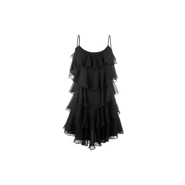 TALLY WEiJL: Flowy layered dress (38 CAD) ❤ liked on Polyvore featuring dresses, tally weijl, double layer dress and layered dress