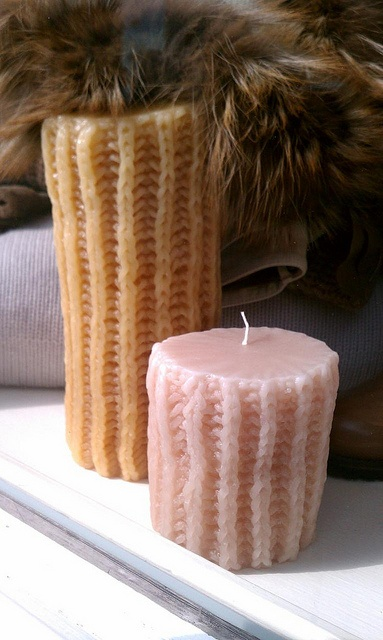 Knit Candles at Brunello Cucinelli by knit cookie, via Flickr