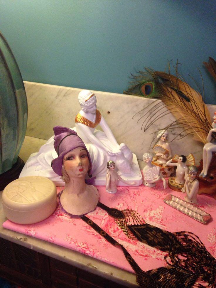Antique french boudoir doll head to restore, ancienne tête de poupée de boudoir en soie à restaurer . de la boutique LesPierreVintage sur Etsy