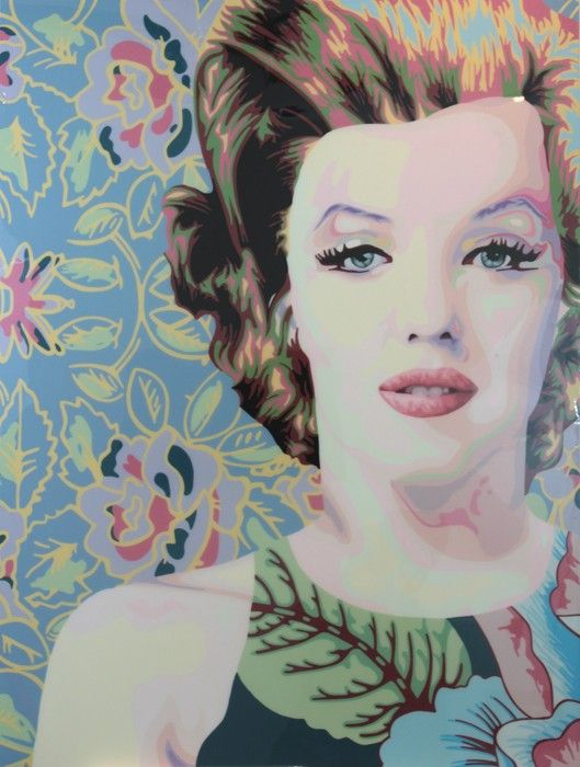 #POP #ART Elisabetta Fantone - Marilyn Monroe | Acrylic on Canvas with Resin finish, 122x97cm, £5800