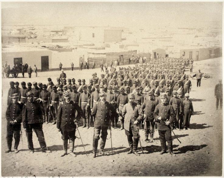 Arica, El General Manuel Baquedano (1880). Regimiento de Granaderos a Caballo, Author Díaz y Spencer: 31 December 1879. https://commons.wikimedia.org/wiki/File:El_General_Manuel_Baquedano_1880.jpeg