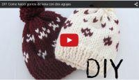 HANIMLAR HARİKA BİR BERE YAPIMI  HEMDE ÇOK KOLAY BUYRUN VİDEOLU ANLATIM(DIY Como hacer gorros de lana con dos agujas)