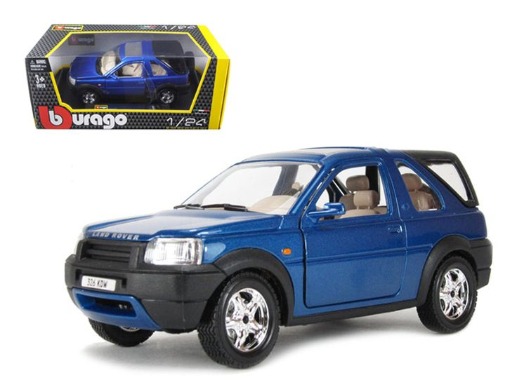 Land Rover Freelander Blue 1/24 Diecast Model Car by Bburago - Brand new 1:24 scale diecast car model of Land Rover Freelander die cast car by Bburago. Has opening doors. Brand new box. Rubber tires. Made of diecast with some plastic parts. Detailed interior, exterior. Dimensions approximately L-7.5,W-4,H-3 inches. Please note that manufacturer may change packing box at anytime. Product will stay exactly the same.-Weight: 2. Height: 6. Width: 11. Box Weight: 2. Box Width: 11. Box Height: 6…