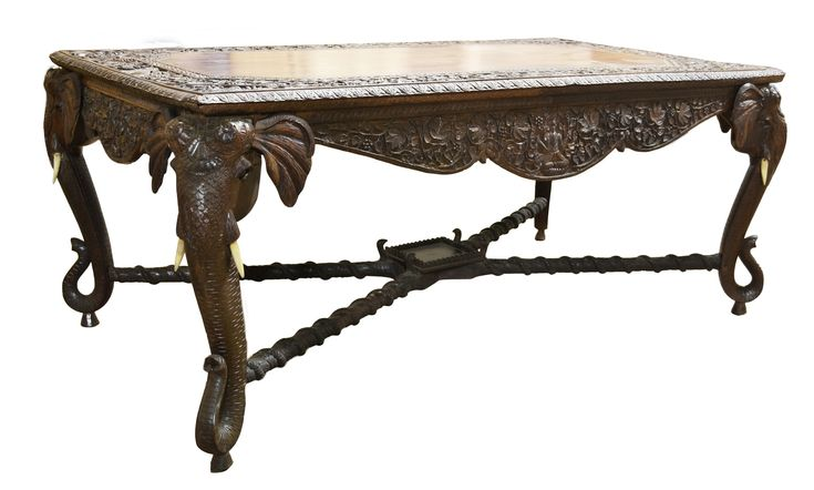 Buy CARVED ELEPHANT TABLE by Mike Bell, Inc. & Westwater Patterson - Limited Edition designer Furniture from Dering Hall's collection of Traditional Transitional Desks & Writing Tables.