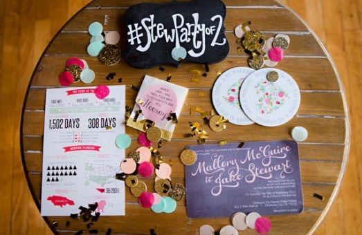 8 Ways to Create the Best Wedding Hashtag (Photo by Caroline Rentzel Photography via Wedding Chicks)