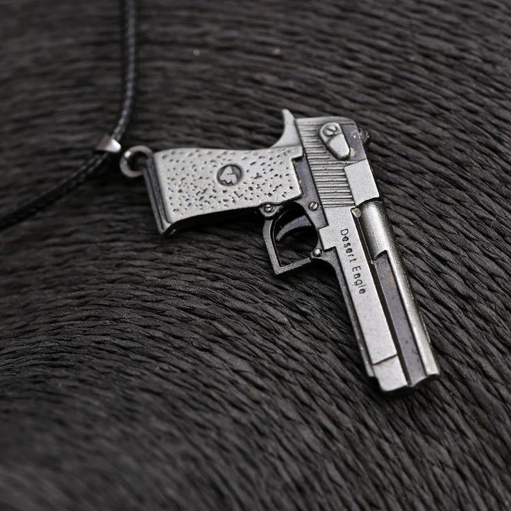 Fashion For Men Desert Eagle Gun Pendant Necklace