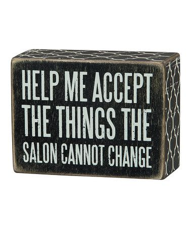 Love this 'The Salon' Box Sign on #zulily! #zulilyfinds