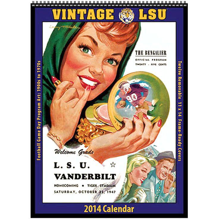 LSU Tigers 2014 Vintage Football Calendar - $15.19