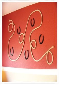 Cowboy bedroom idea. How do I get rope to do that???