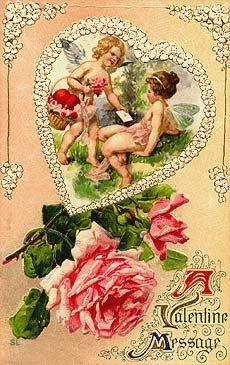 910 best Vintage Valentine Cards Postcards images on Pinterest