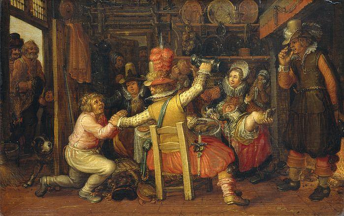 David Vinckenboons. Boerenverdriet (Крестьянские горести) (1626, Rijksmuseum, Amsterdam)