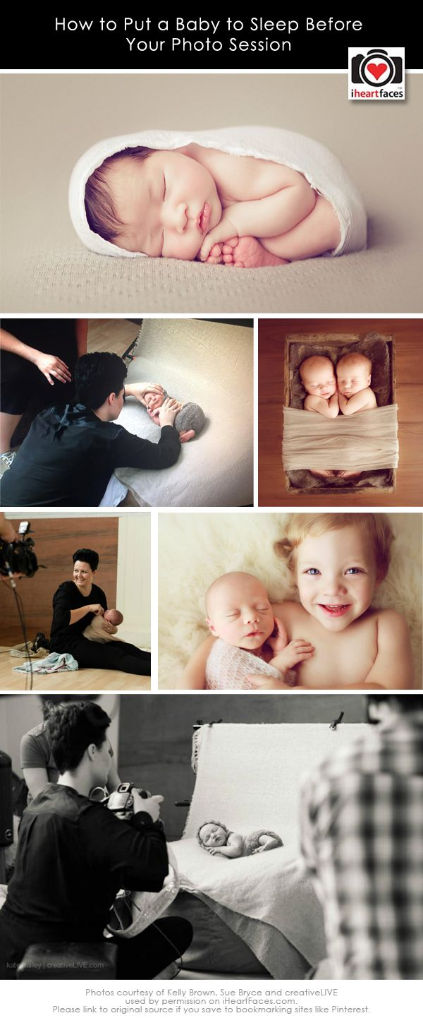 Helpful Tips for Putting Baby to Sleep Before a Photo Session - http://www.iheartfaces.com/2013/08/tips-for-sleeping-baby-during-photo-session/