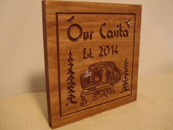 Custom Pop Up Camper Rv Trailer Park Wooden Carved Signs