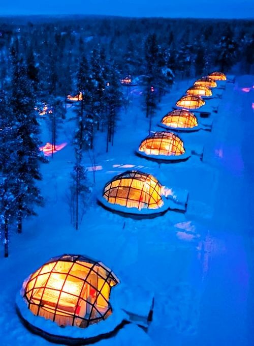 An igloo in Finland.