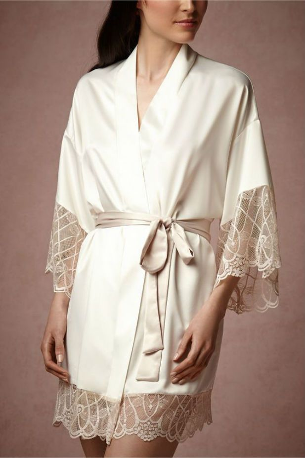 Loving the elegance of these silk colorful bridal robes