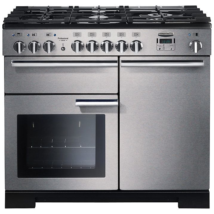 Rangemaster Pdl100dffss C Professional Deluxe 100 Dual Fuel Range Cooker Stainless Steel Dual Fuel Range Cookers