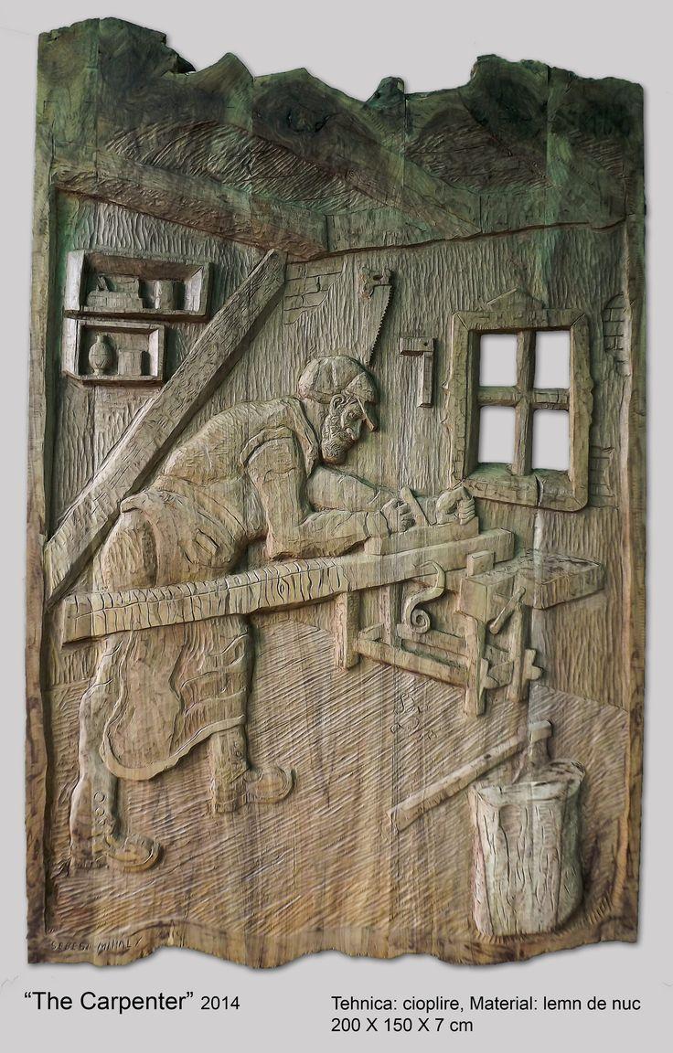 Relief in wood