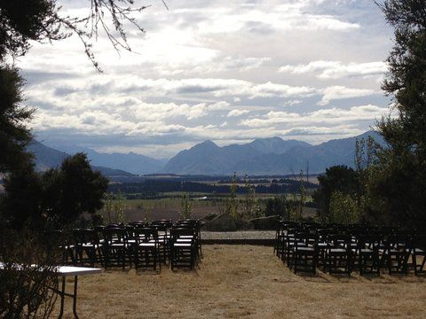 Stunning ceremony site at Criffel Station Woolshed