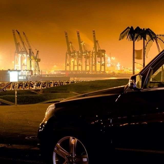 The Port of Hamburg c/o @Anna FrOst and the #GLK. #mercedes #benz #instacar cc: @Mercedes-Benz – The best or nothing