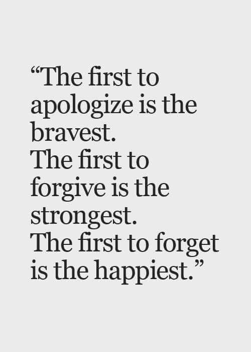 The sad thing is most people won't apologize because of their ego or pride even when they were wrong.