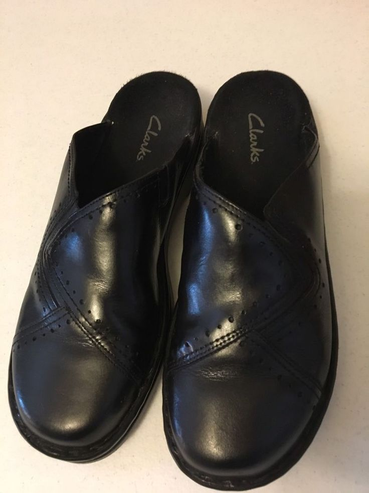 Clark Womens Slip On Black Round Toe clog  Shoes Sz 11W #Clarks #Comfort #WeartoWork