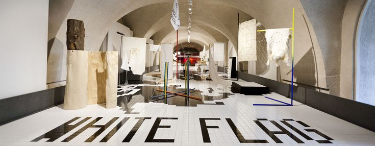 20 white flags for utopia represent italy at london design biennale