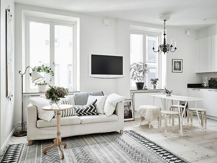 17 mejores ideas sobre salas en blanco y negro en pinterest ...
