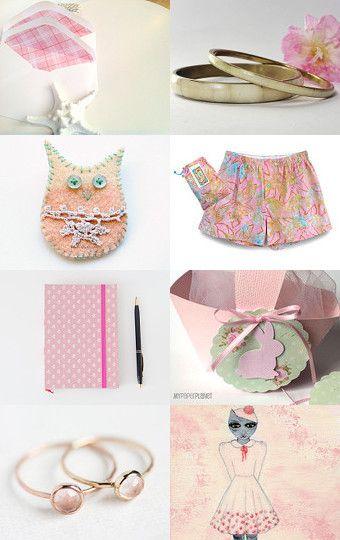 pastel bunny rabbit by greylittlemouse on Etsy--Pinned with TreasuryPin.com