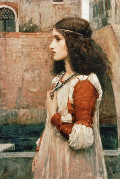 Juliet, 1898 by John William Waterhouse ✿⊱╮                                                                                                                                                      More