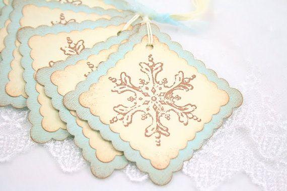 Snowflake Tags Winter Gift Tags Christmas