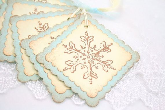 Christmas Gift Tags...Winter Snowflakes