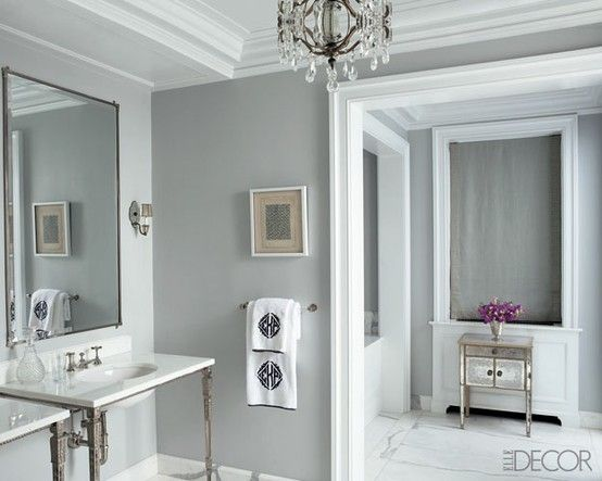 bathroom gray n white