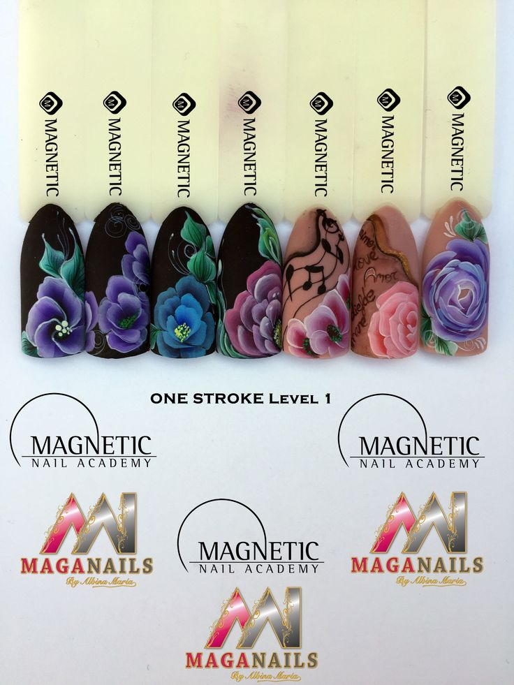 One Stroke, Master paint, Nail Art, Magnetic Nails, Maga Nails